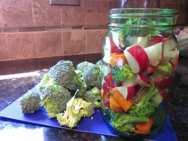 probiotics at home, making fermented veggies, easy recipe for fermented veggies