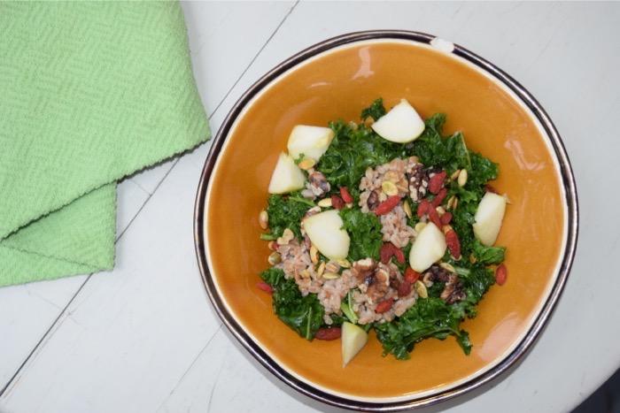 autumn harvest superfood salad