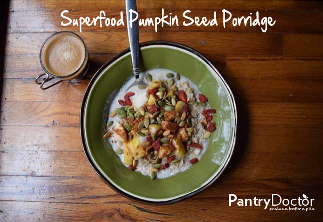 superfood pumpkin seed porridge