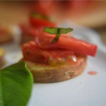 Sweet Potato Bruschetta Appetizer
