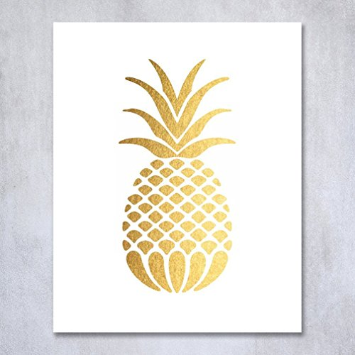 pineapple wall print - best foodie gifts